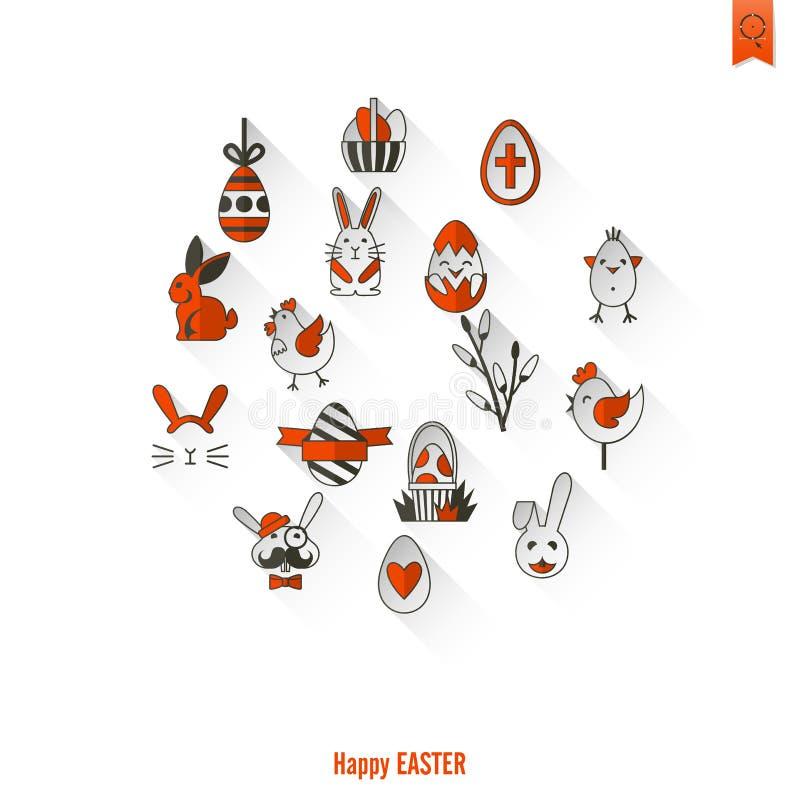Download 庆祝复活节象 向量例证. 插画 包括有 基督教, 愉快, 兔宝宝, 节假日, bataan, 母鸡, 装饰 - 59107809