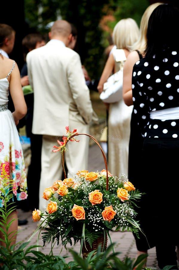 庆祝婚礼 免版税库存图片