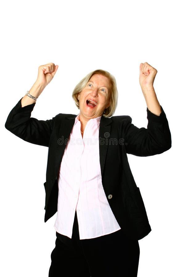 庆祝成熟妇女 免版税库存图片