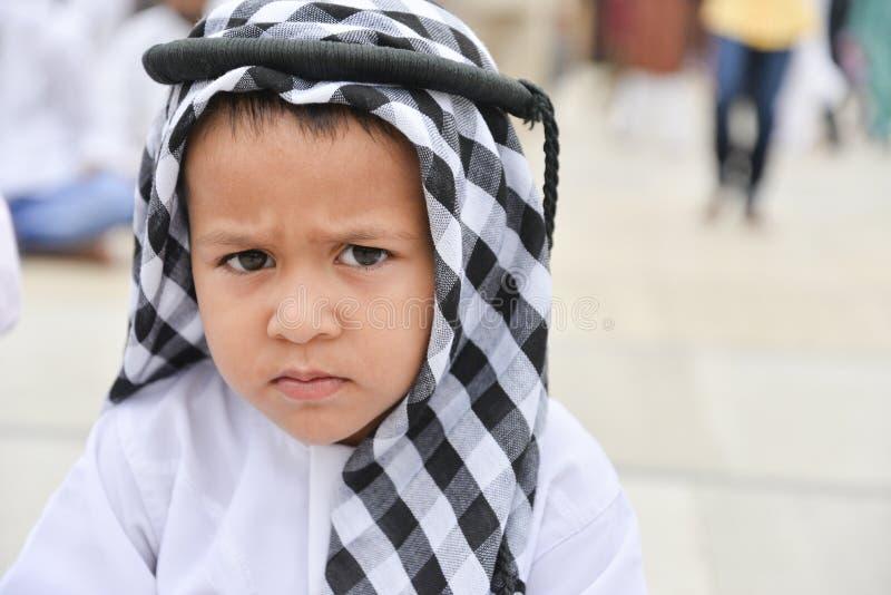 庆祝指示月的结束赖买丹月的Eid AlFitr的穆斯林 免版税库存照片
