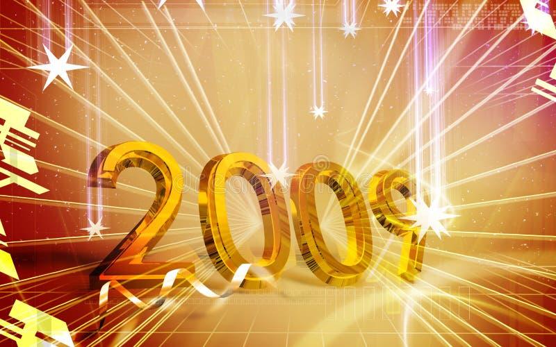 庆祝新年度 向量例证
