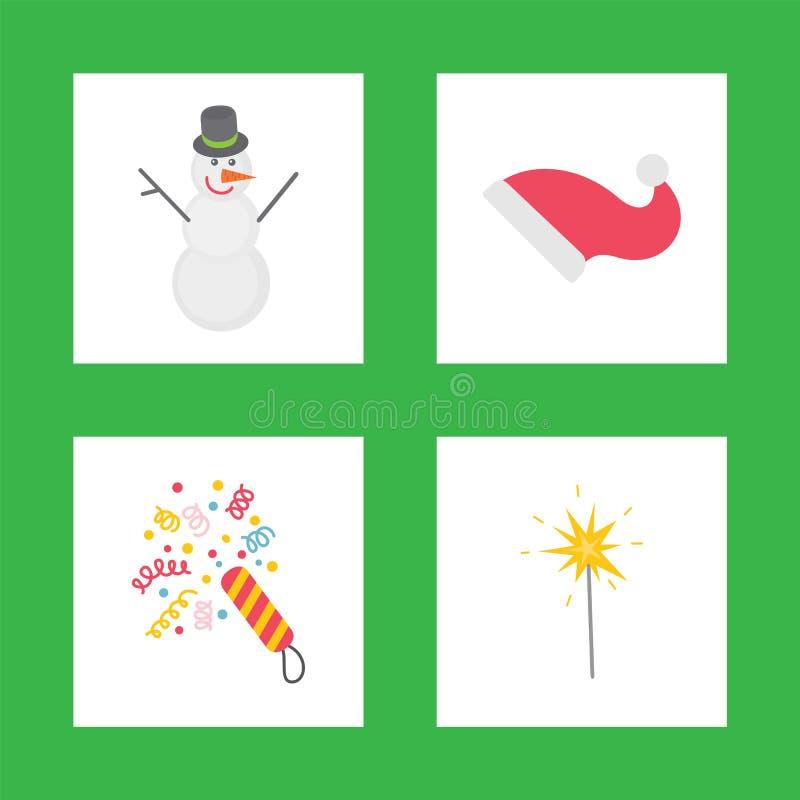 庆祝新年象的假日装饰 库存例证