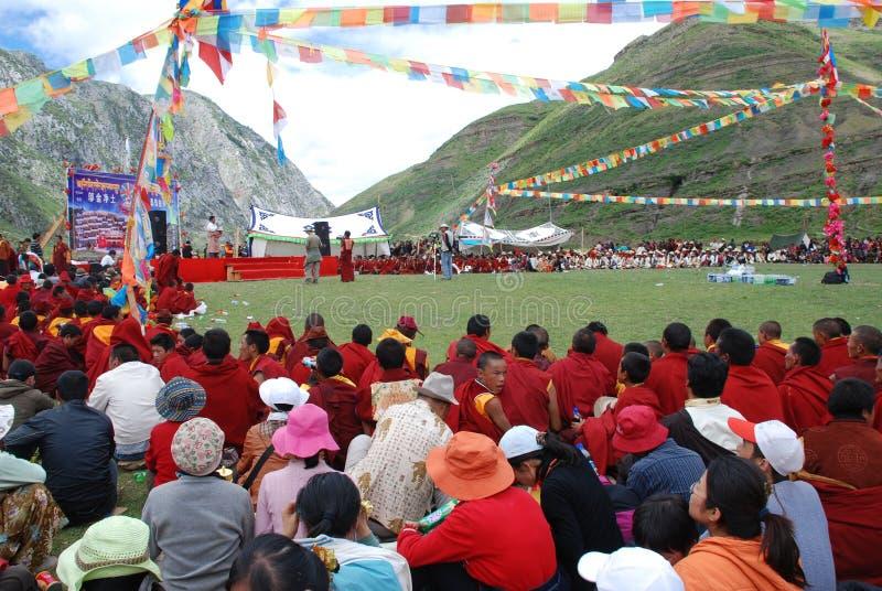 庆祝新的西藏年 图库摄影