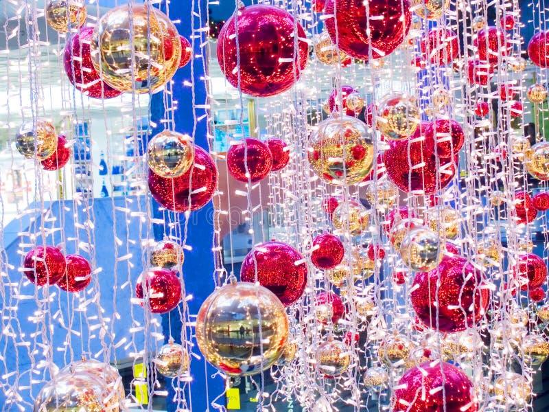 庆祝的圣诞节装饰品 库存照片