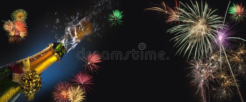 庆祝的时刻-嘶嘶响和烟花 库存图片