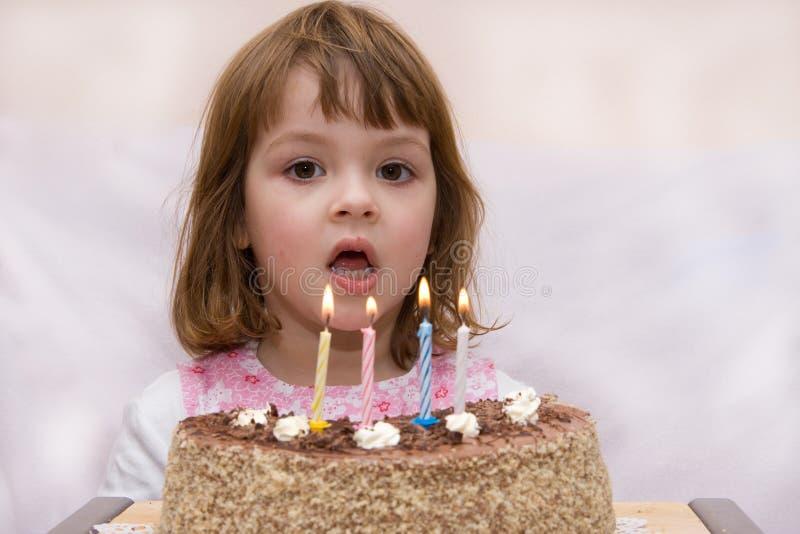 庆祝的生日第四 库存照片