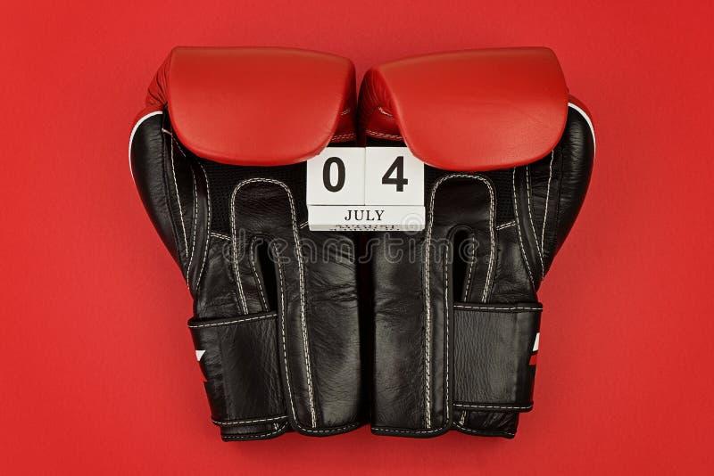 庆祝美利坚合众国7月4的独立日的日贺卡 图库摄影