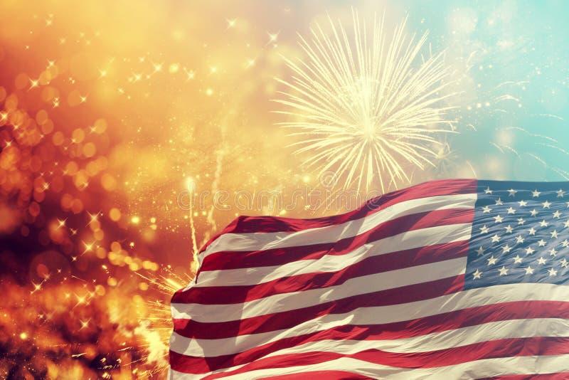 庆祝美国独立日在美国 库存照片
