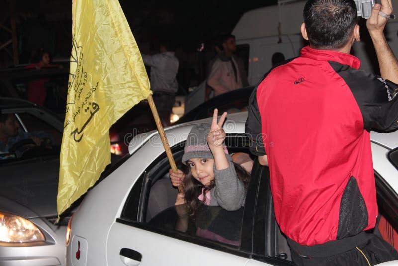 庆祝胜利在加沙 免版税库存图片
