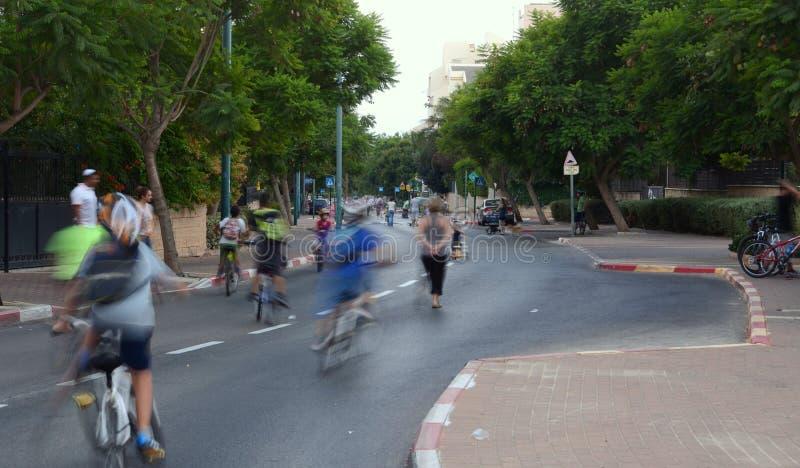 庆祝赎罪节(赎罪日)伊芙的人们在以色列 库存图片