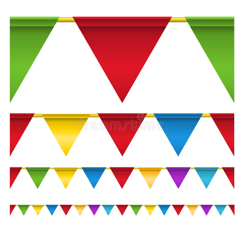 庆祝颜色标记三角 库存例证