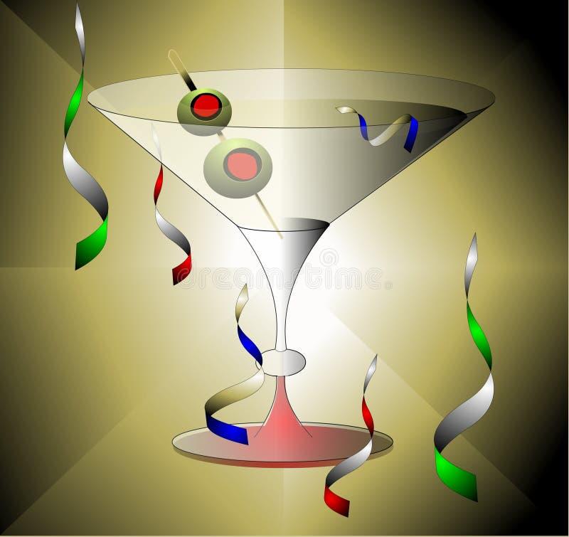 庆祝马蒂尼鸡尾酒 向量例证