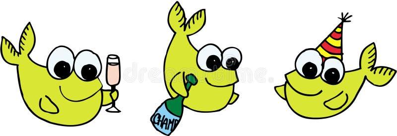 庆祝鱼 库存例证