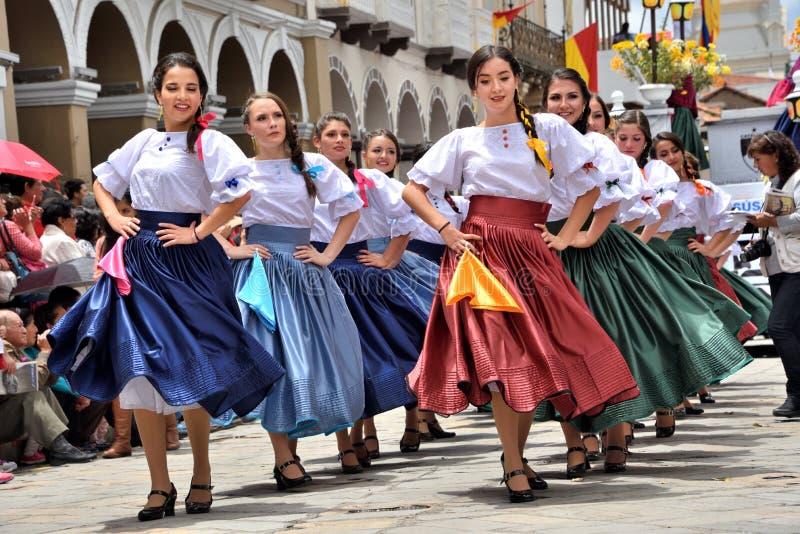 庆祝460年昆卡省` s基础,厄瓜多尔 库存照片