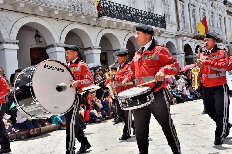 庆祝460年昆卡省` s基础,厄瓜多尔 免版税库存照片