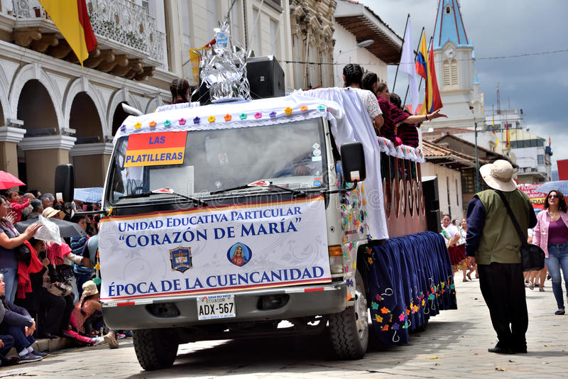 庆祝460年昆卡省` s基础,厄瓜多尔 库存图片