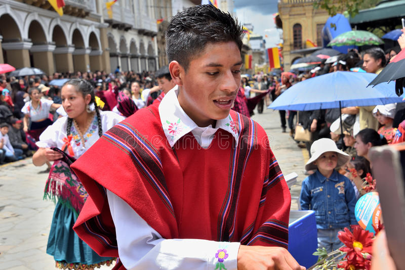 庆祝460年昆卡省` s基础,厄瓜多尔 免版税图库摄影