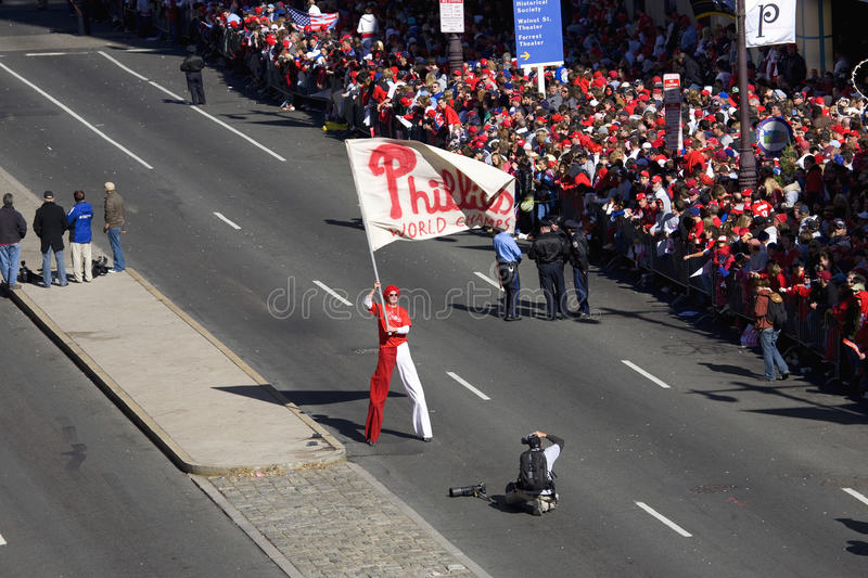 庆祝Phillies联赛胜利 免版税库存照片