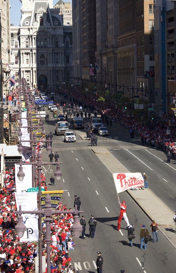 庆祝Phillies联赛胜利 免版税图库摄影