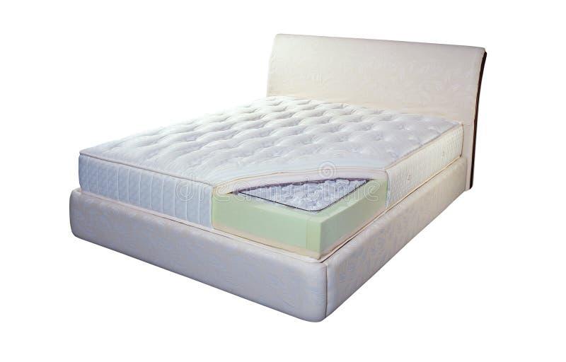 床垫由口袋春天和泡沫制成 免版税库存图片