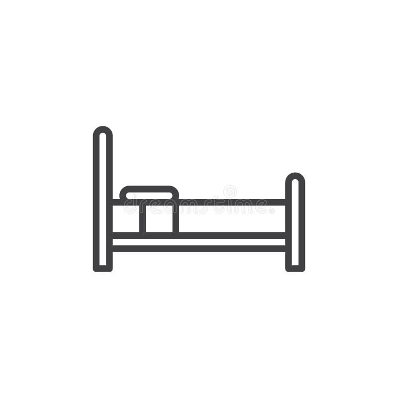 床家庭家具线象 向量例证