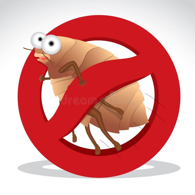 床铺臭虫传染媒介 向量例证