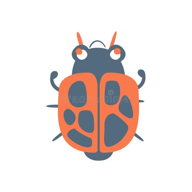 床铺臭虫战士动画片五颜六色的字符传染媒介例证 皇族释放例证