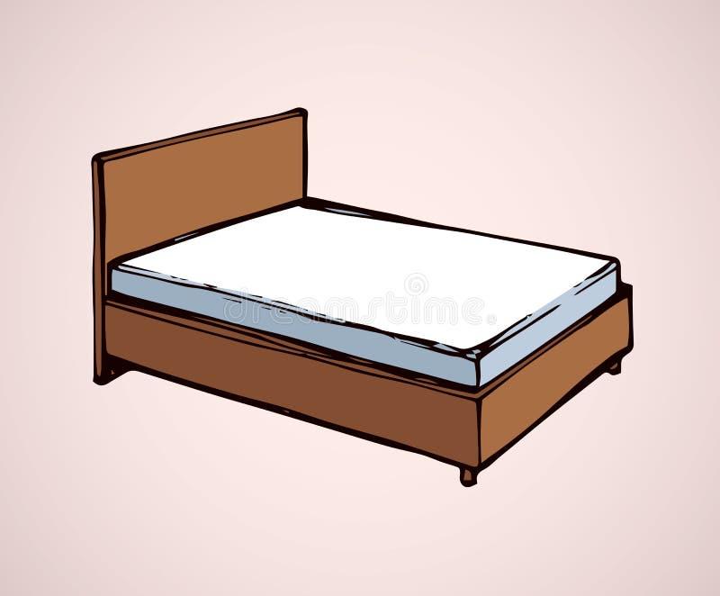 床 得出花卉草向量的背景 向量例证