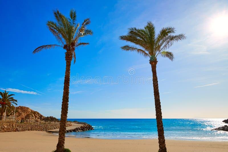库列拉角Platja del Far海滩Playa del法鲁巴伦西亚 免版税库存图片