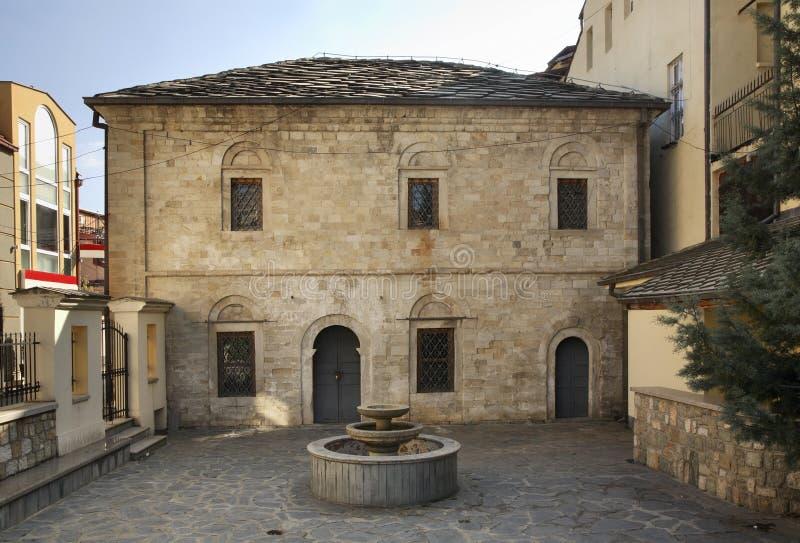 仓库在比托拉镇 马其顿 免版税库存照片