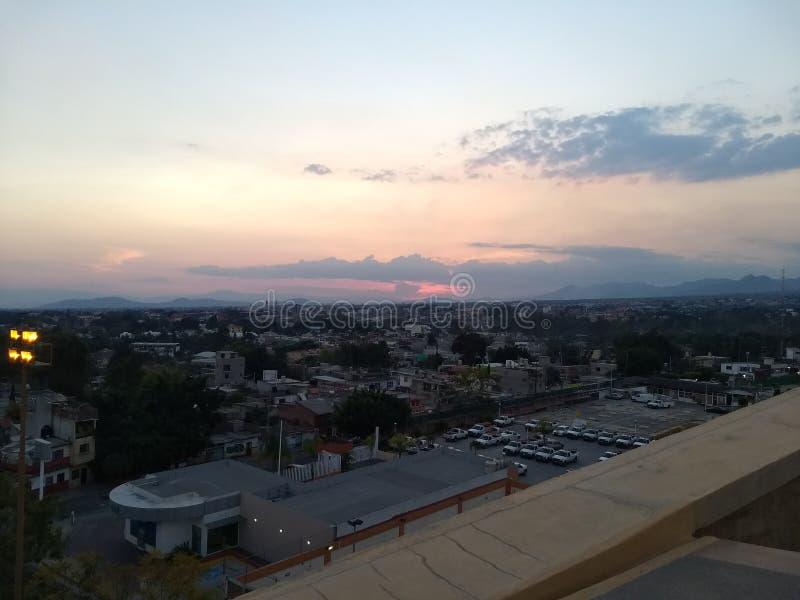 库埃纳瓦卡市风景 库存图片