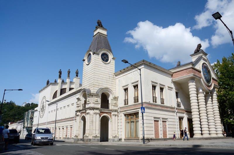 库塔伊西歌剧院,在艺术nouveau样式的美丽的大厦,乔治亚看法  免版税库存图片