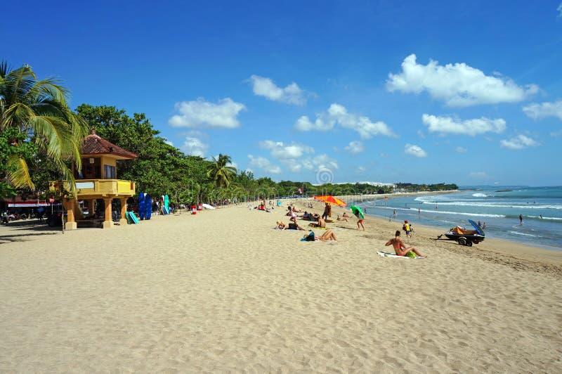 库塔海滩在巴厘岛 图库摄影