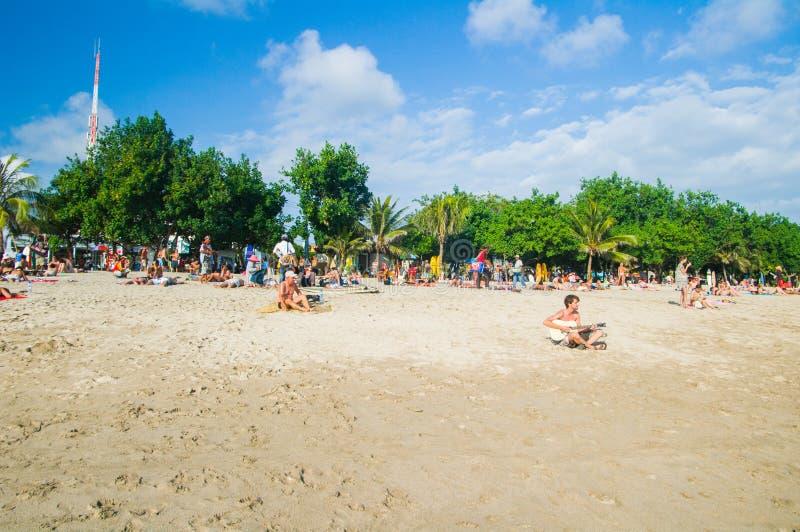 库塔海滩,巴厘岛,印度尼西亚,东南亚 库存图片