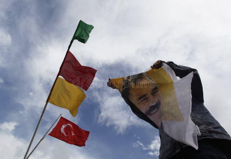 库尔德人的演示 免版税库存图片