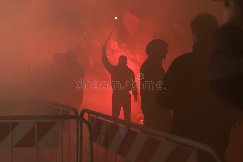 库尔德示威者抗议在土耳其Consu前面 库存照片