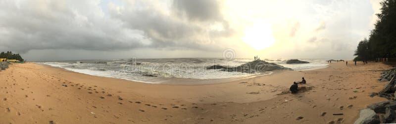 库恩达普拉海滩的一幅全景 免版税图库摄影