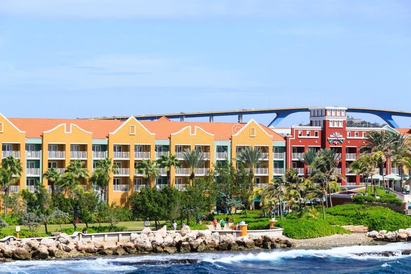 库拉索岛手段桥梁和赌博娱乐场 免版税图库摄影
