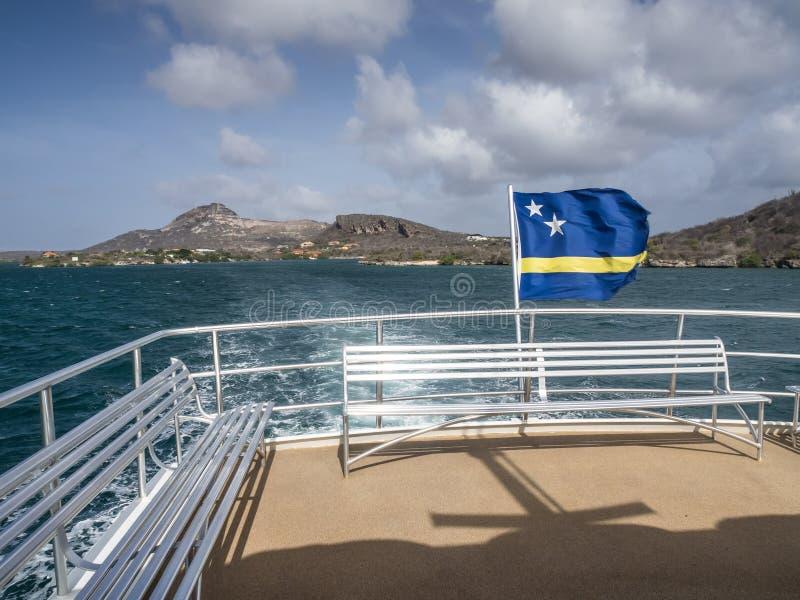 库拉索岛标记 图库摄影