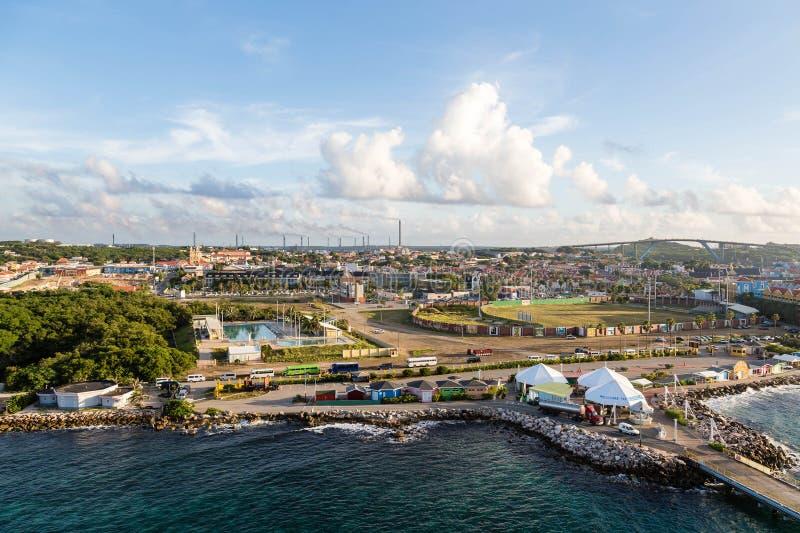 库拉索岛的港 库存图片