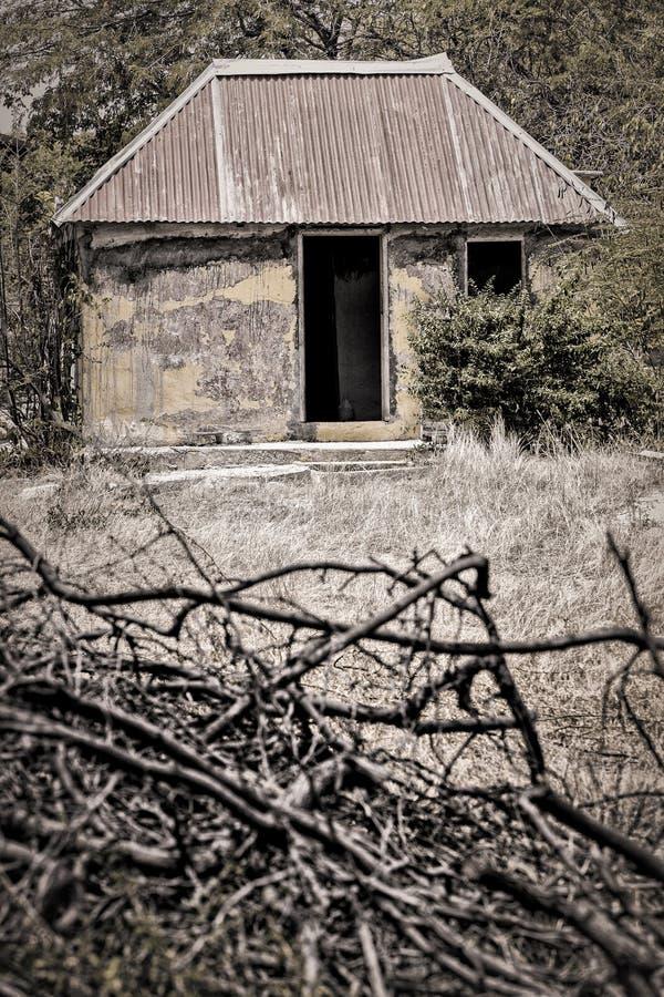 库拉索岛的老解决 免版税库存图片