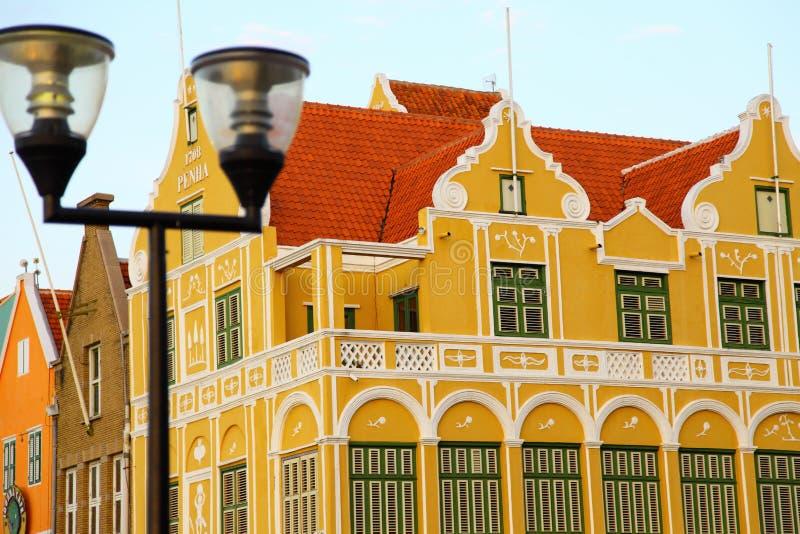 库拉索岛的议院 免版税库存照片