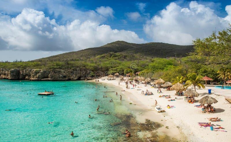 库拉索岛playa格罗特Knip 免版税库存图片