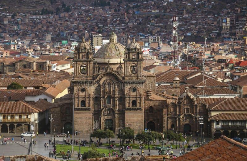 库斯科,秘鲁- 11月08,2015:伊格莱西亚de la Compania德赫苏斯 免版税图库摄影