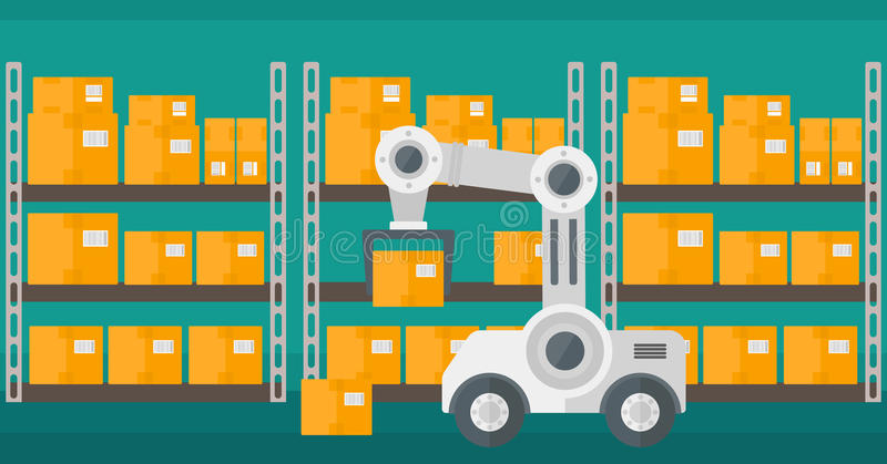 仓库运输机器人 向量例证
