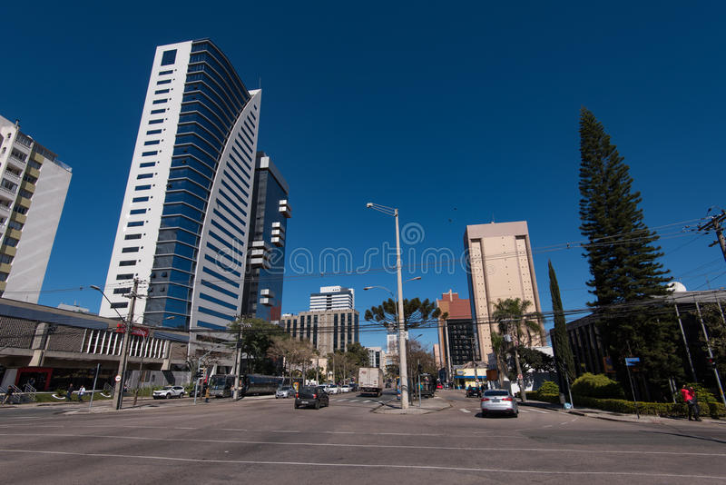 库里奇巴市街道和大厦  库存图片