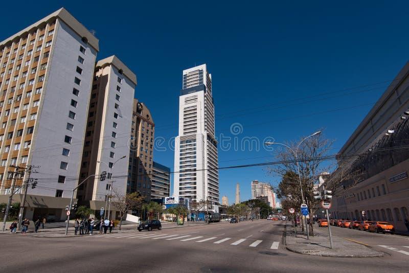 库里奇巴市街道和大厦  库存照片