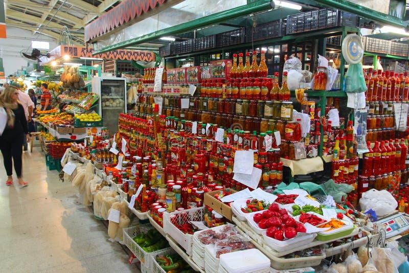 库里奇巴市场 免版税库存照片