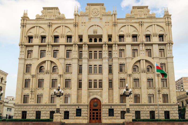 巴库,阿塞拜疆- 2014年10月17日:阿塞拜疆 库存照片