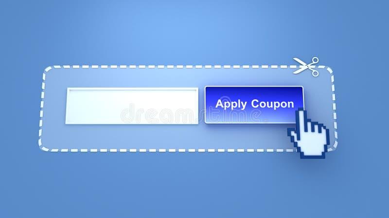 应用优惠券 向量例证